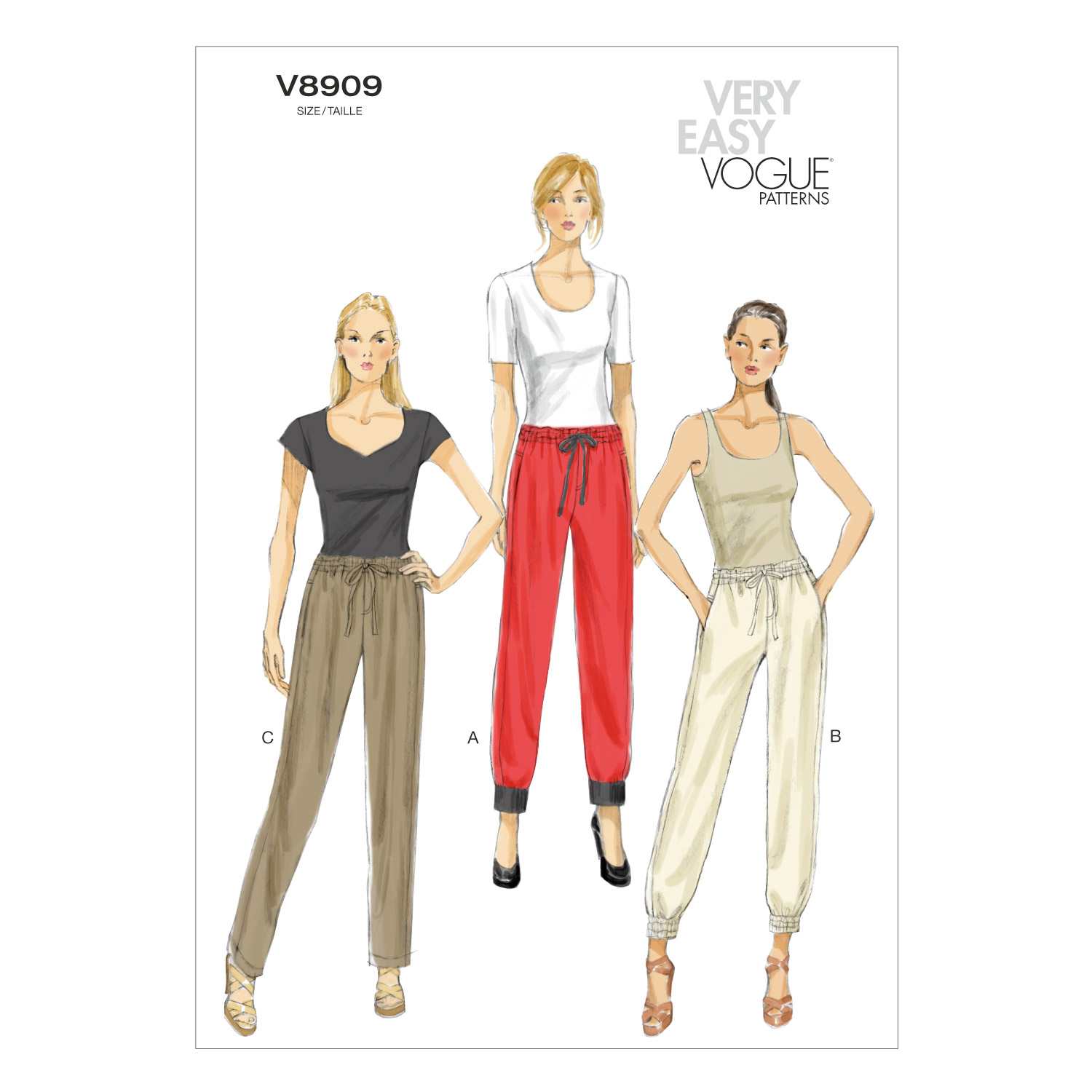 Vogue Patterns Misses Pants-V8909
