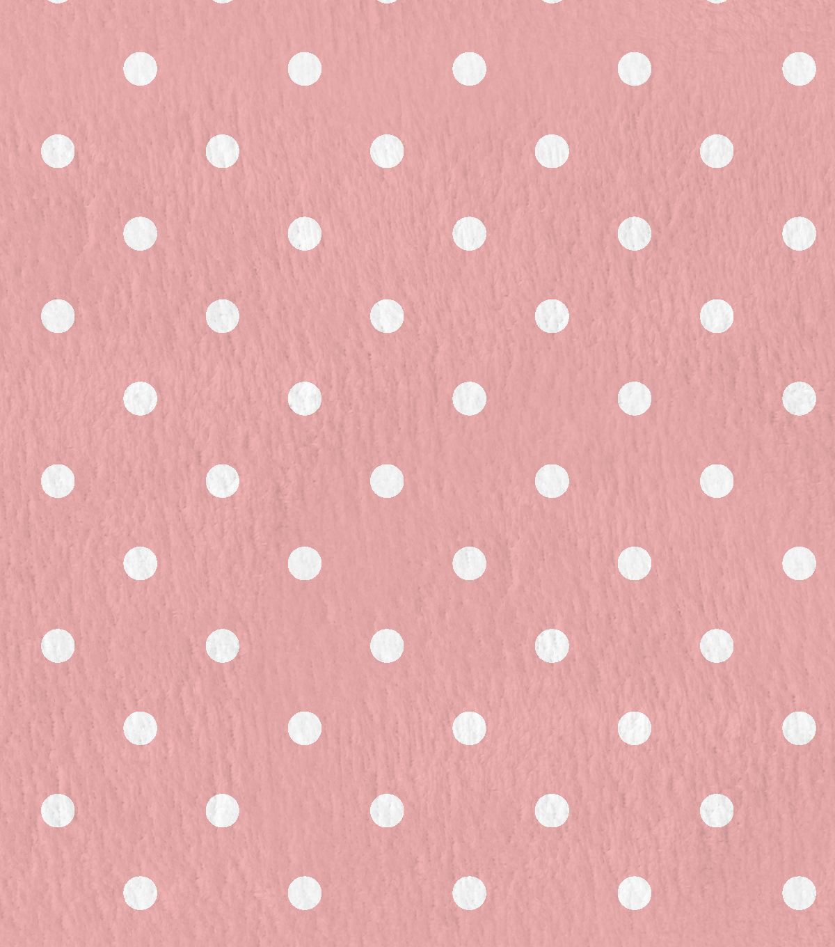 Nursery Flannel Fabric -Swiss Dots Coral Blossom