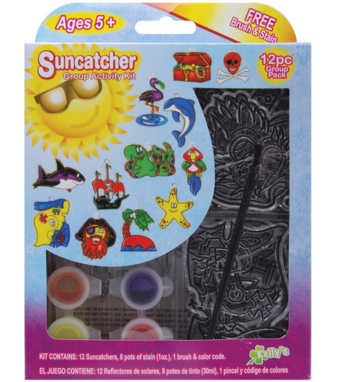 Kelly\u0027s Suncatcher Group Activity Kit-Pirate