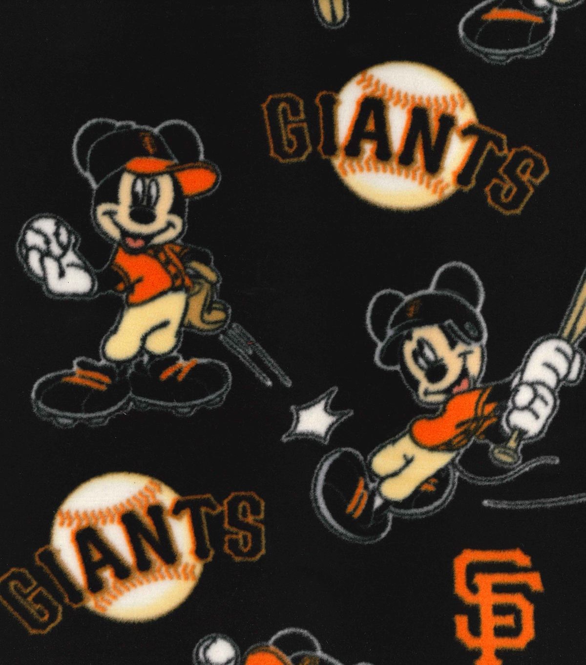 San Francisco Giants Fleece Fabric-Mickey