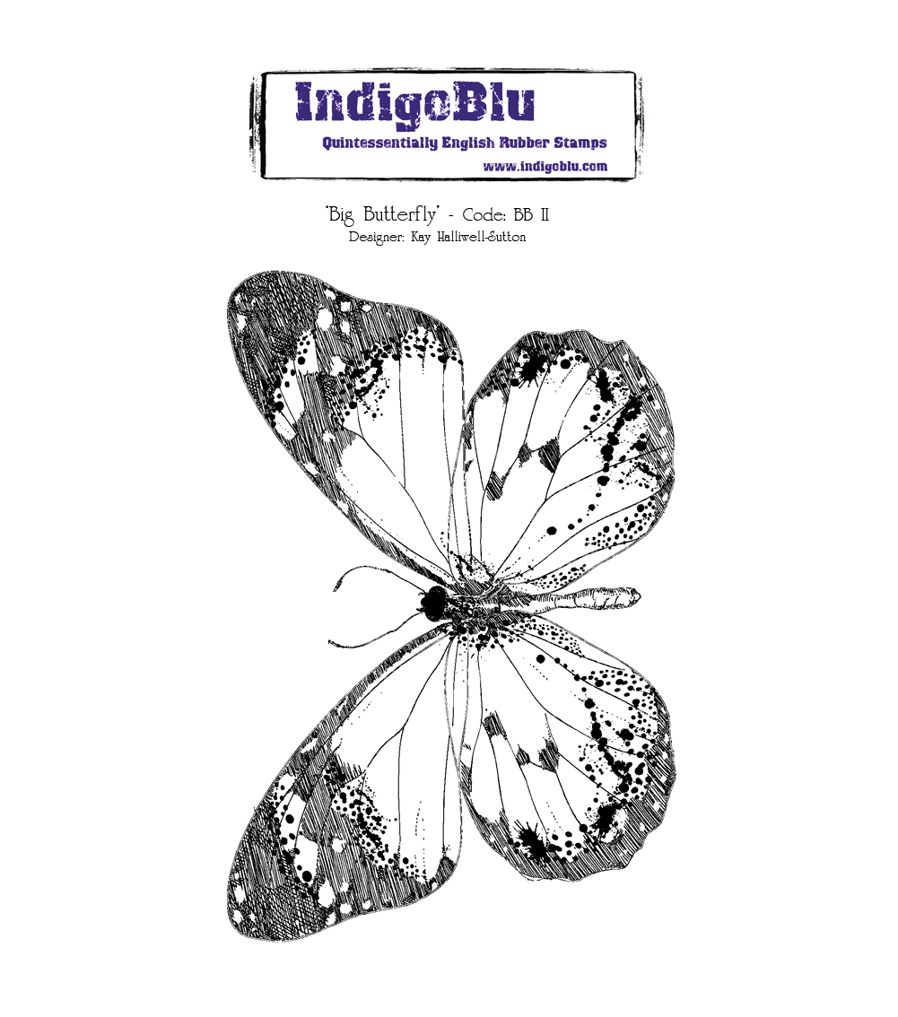 IndigoBlu Cling Mounted Stamp Big Butterfly
