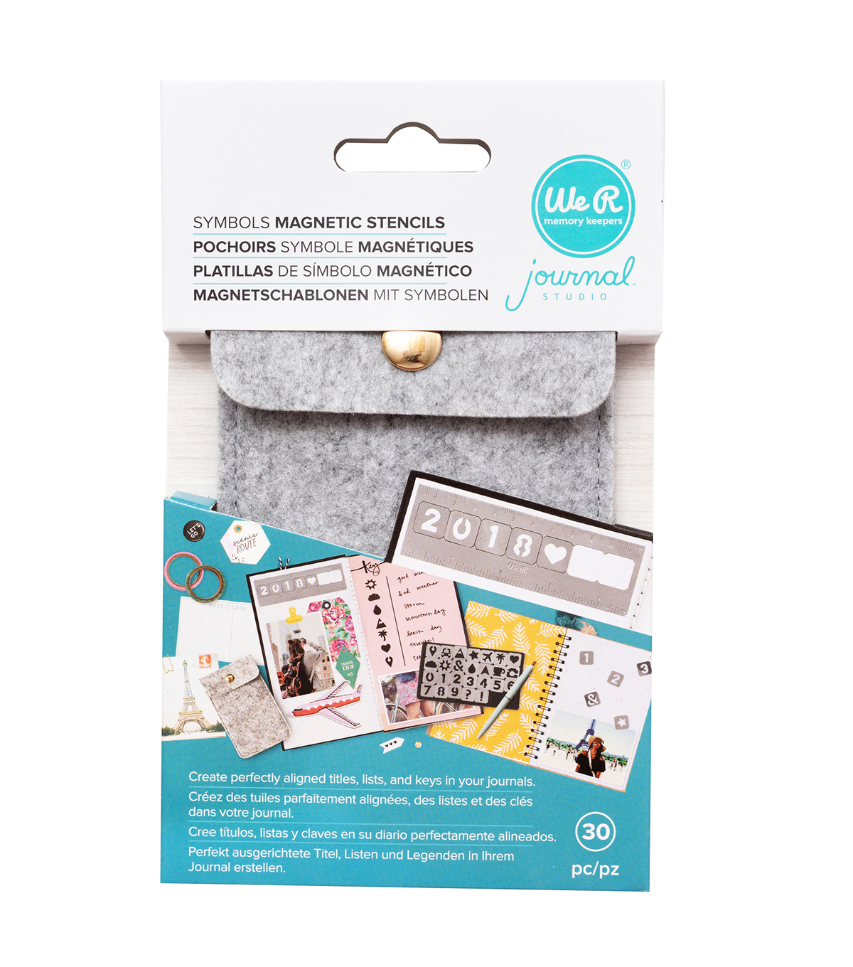 We R Memory Keepers Journal Studio Magnetic Stencil Kit-Symbols