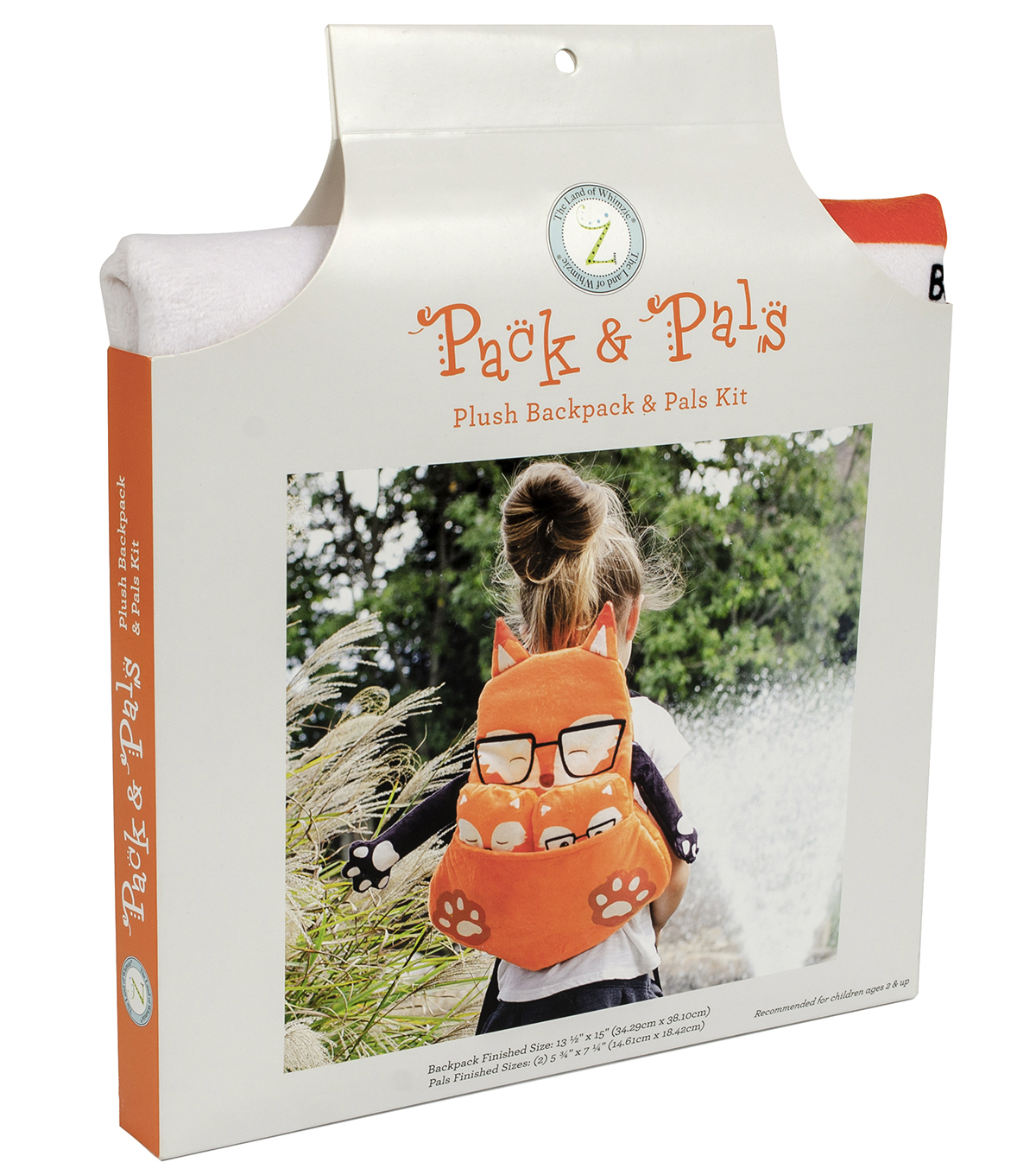 Pack & Pals Plush Backpack & Pals Kit-Fox