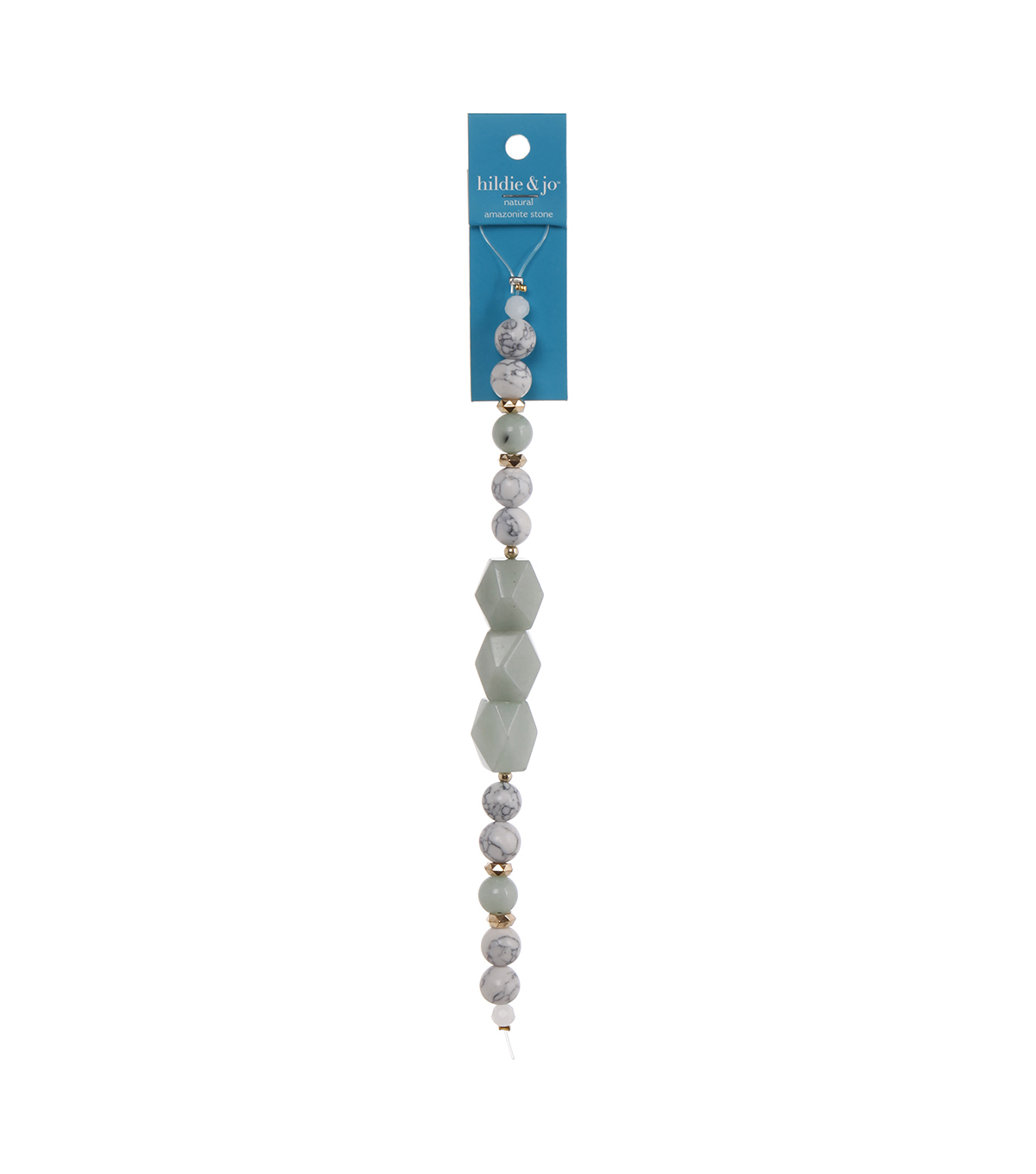 hildie & jo 7\u0027\u0027 Strung Beads-Mint White & Blue