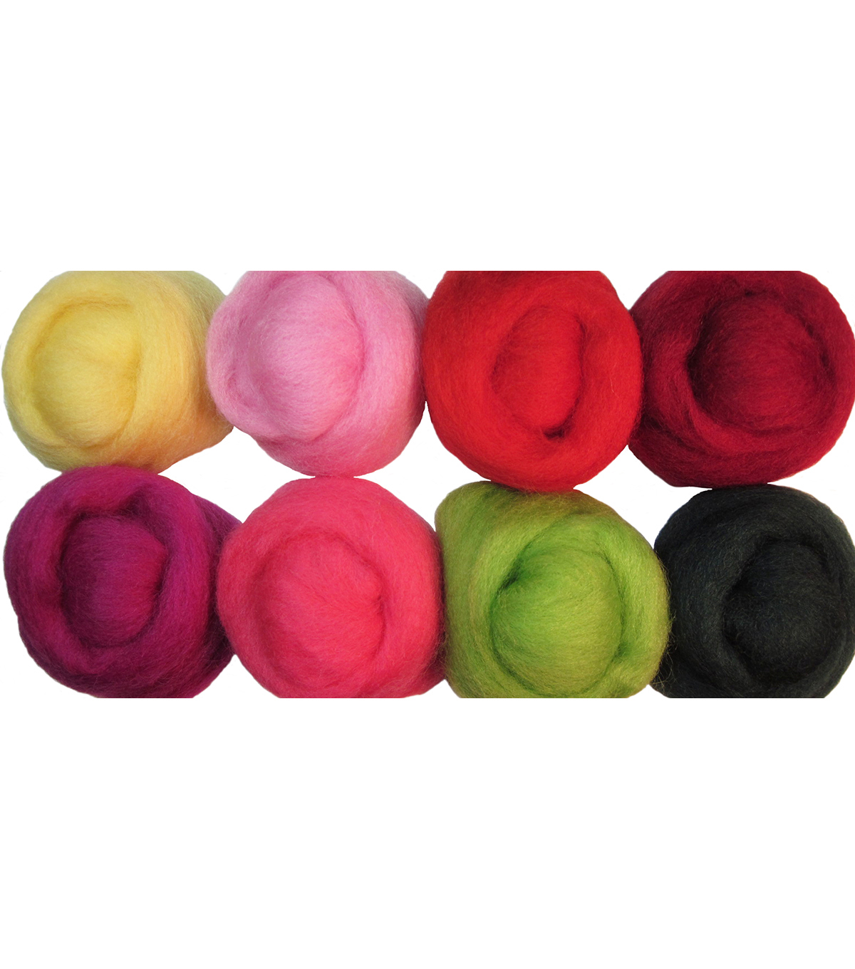 Wistyria Editions Ultra Fine Wool Roving, Zinnias
