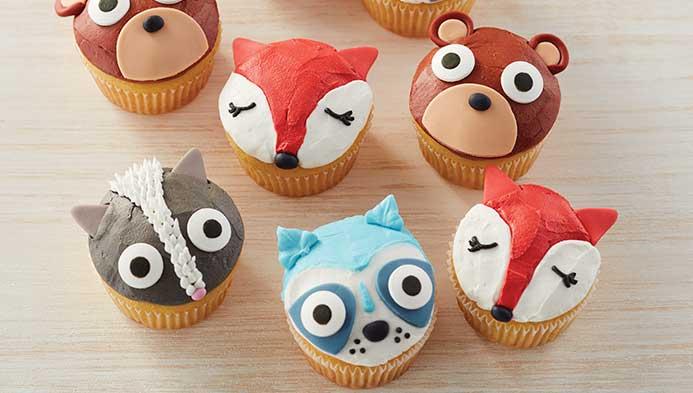 Kids Woodland Creatures Cupcakes