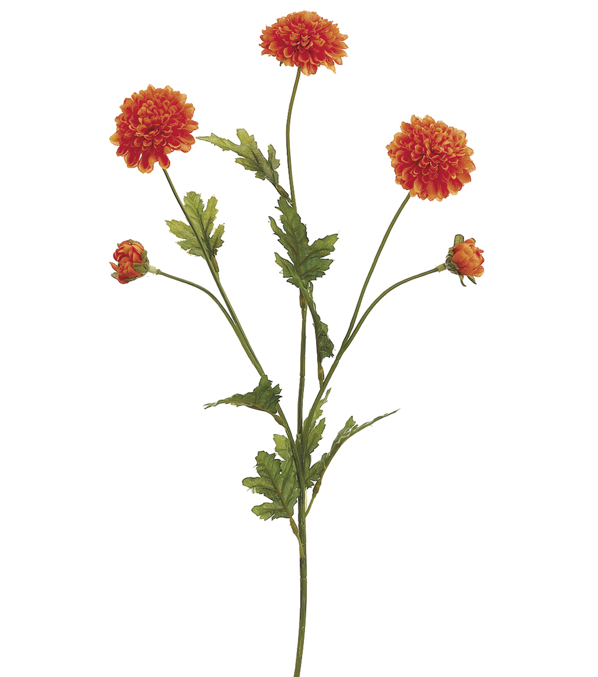Bloom Room 28\u0022 Pom Pom Mum Spray-Orange