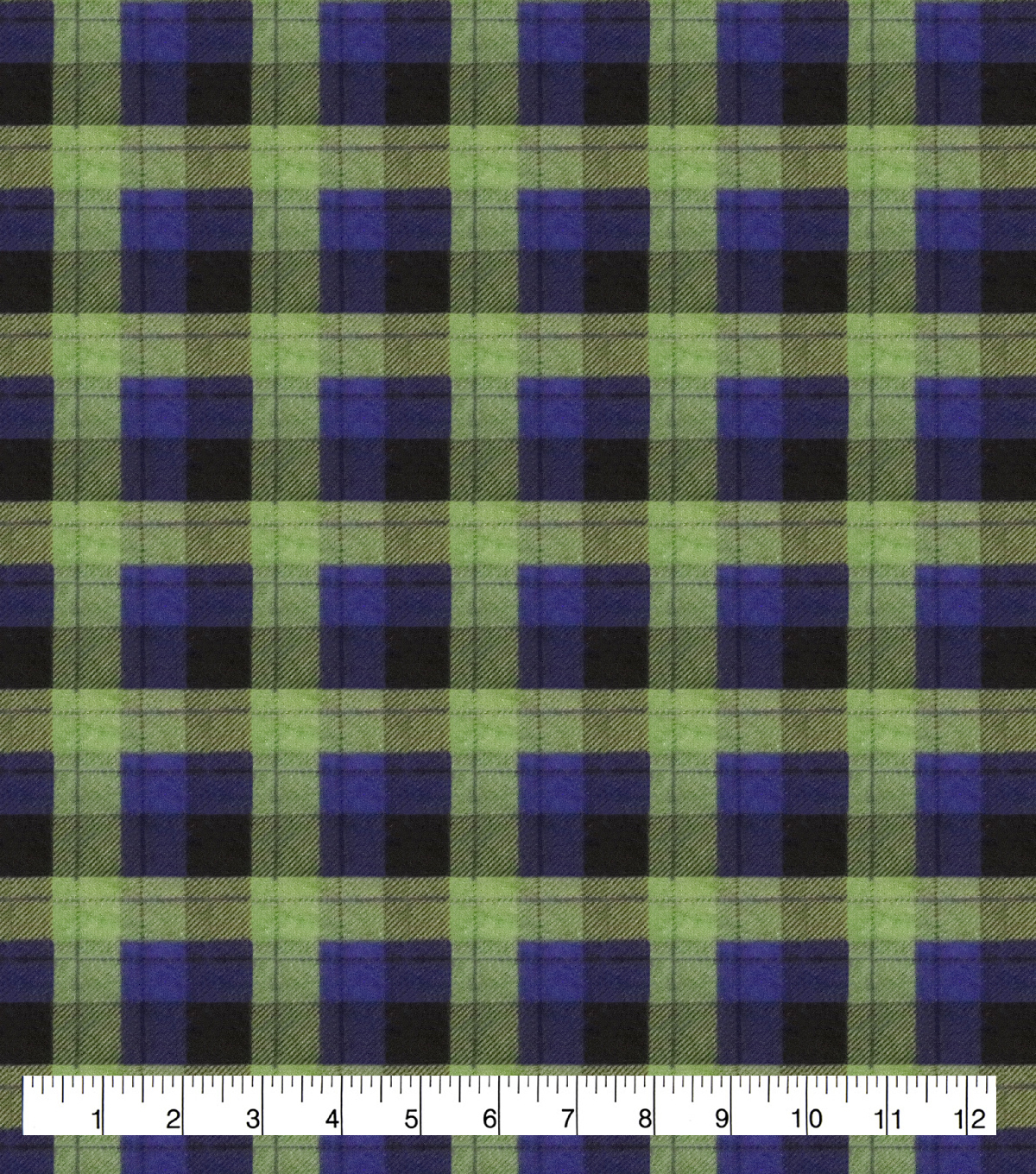 Super Snuggle Flannel Fabric-Skylar Blue Green Plaid