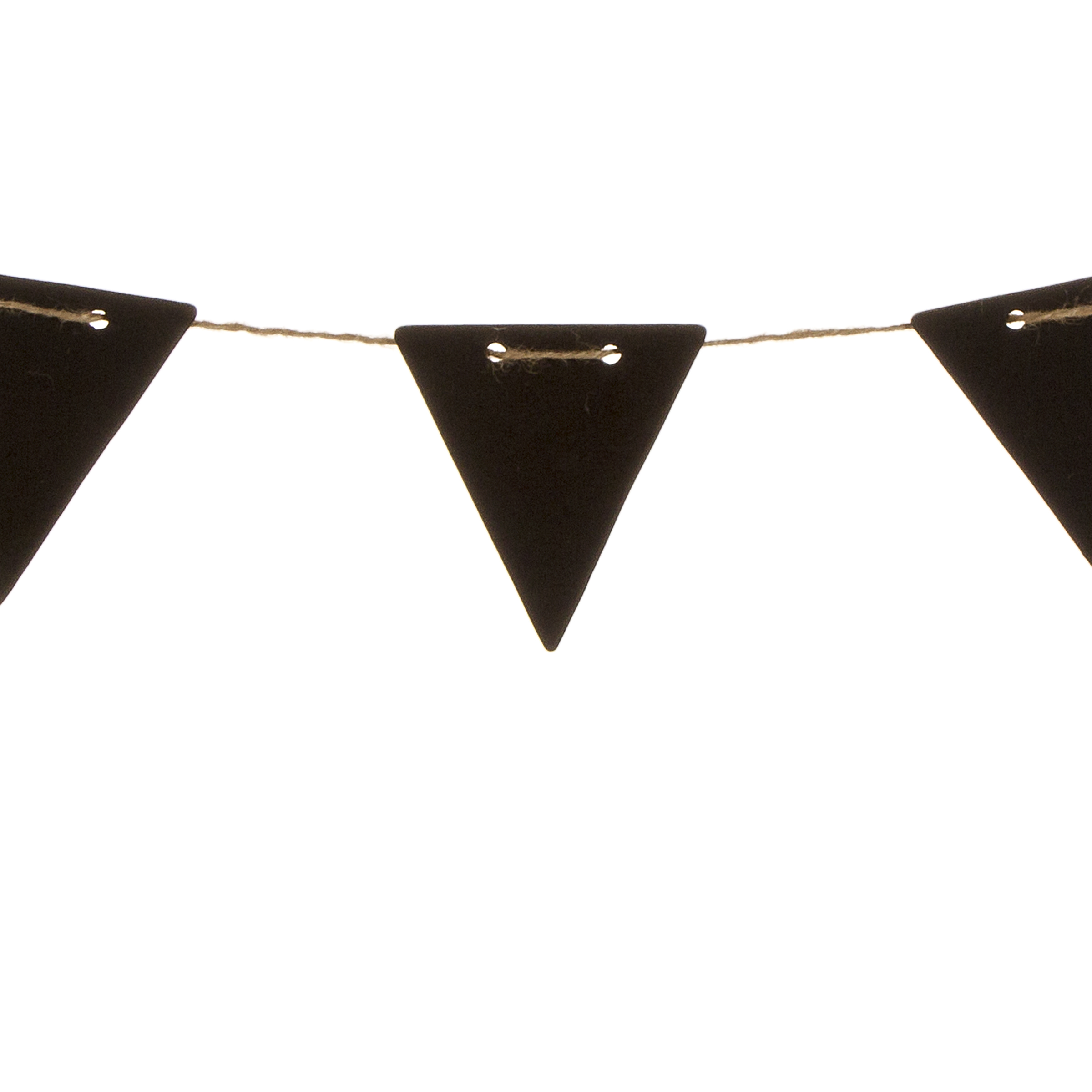 Chalkboard Triangle Banner Shapes w/Twine