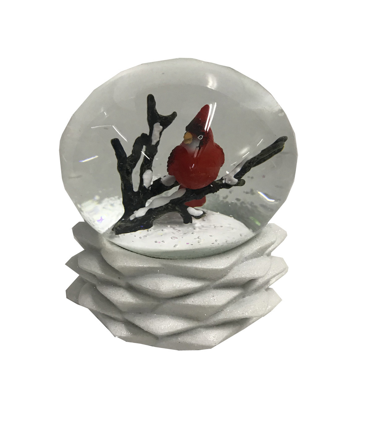 Maker\u0027s Holiday Christmas Cardinal Water Globe