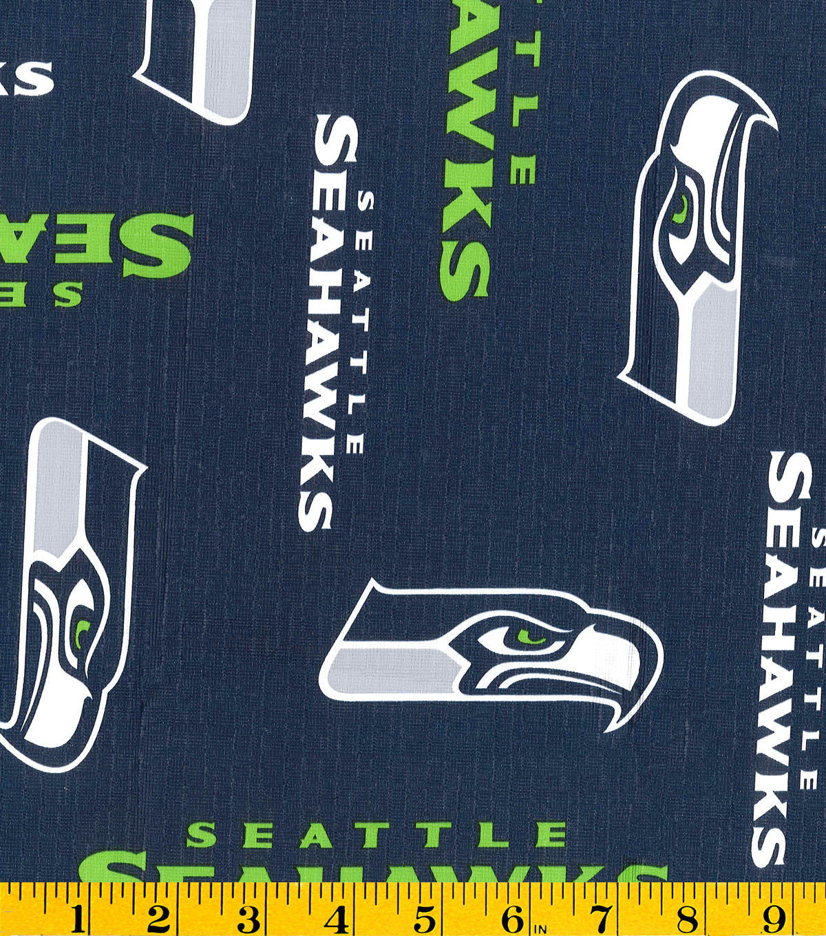 Seattle Seahawks Tablecloth Vinyl Fabric -Logo