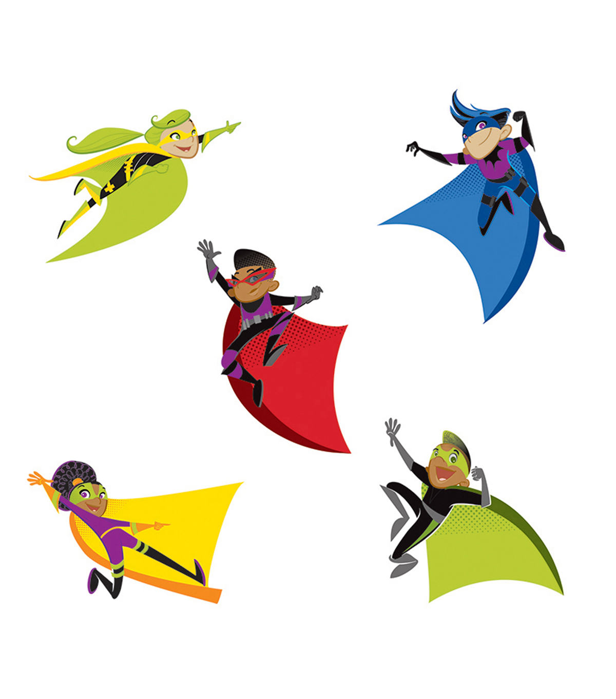 Super Power Super Kids Cut Outs 42/pk, Set Of 6 Packs