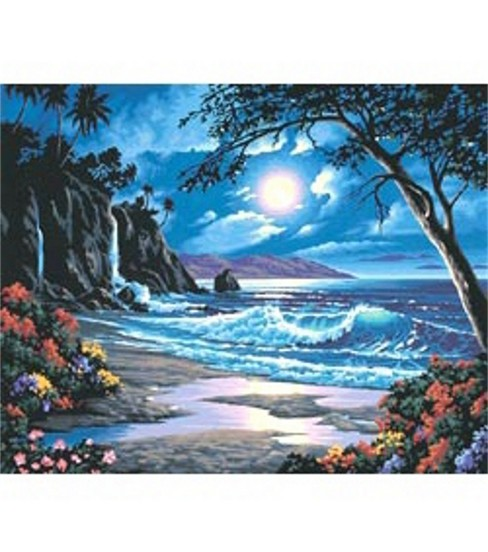 Paint By Number Kit 20\u0022X16\u0022-Moonlit Paradise