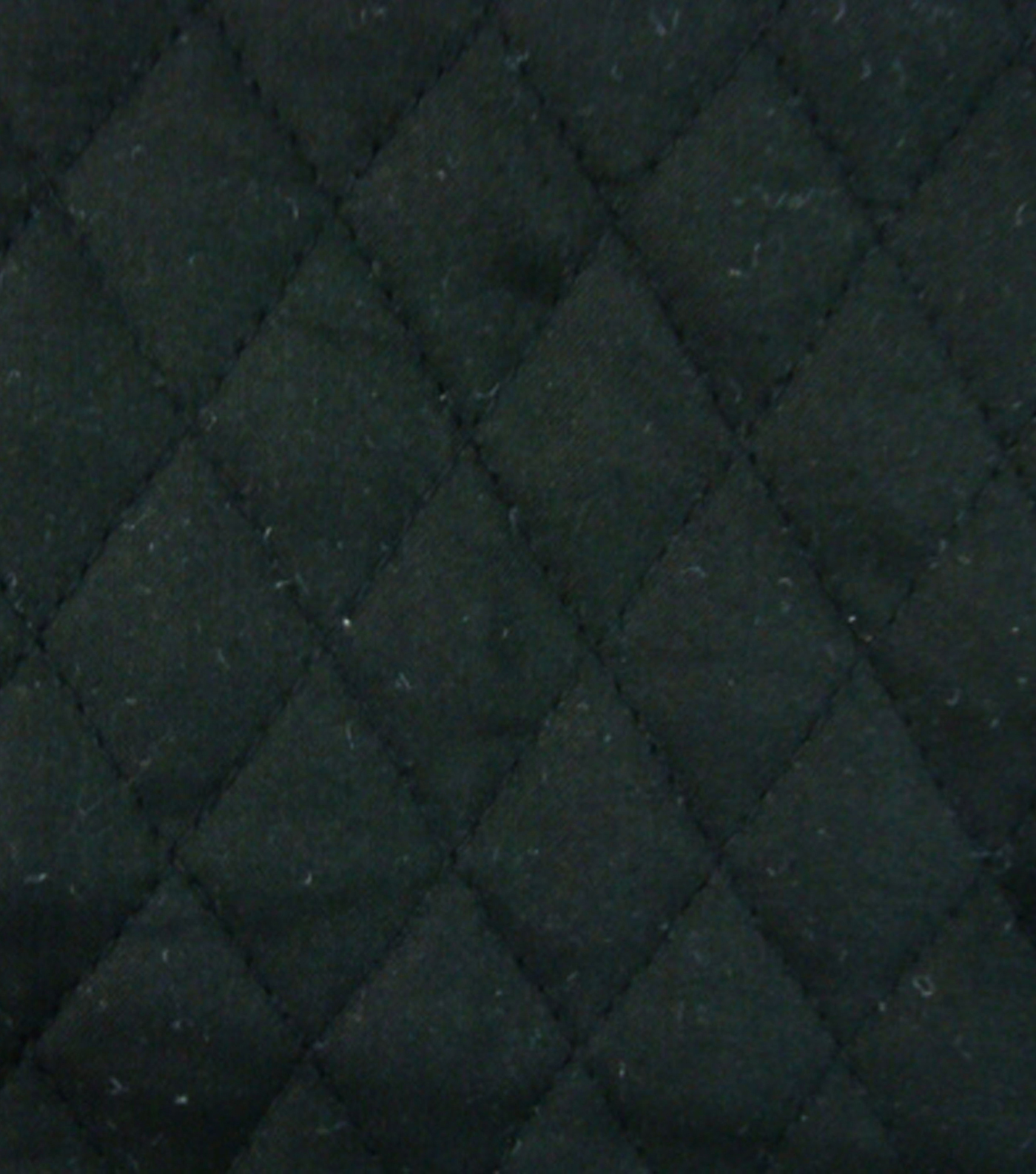 Double Faced Pre-Quilted Cotton Fabric -Diamond Solids, Black