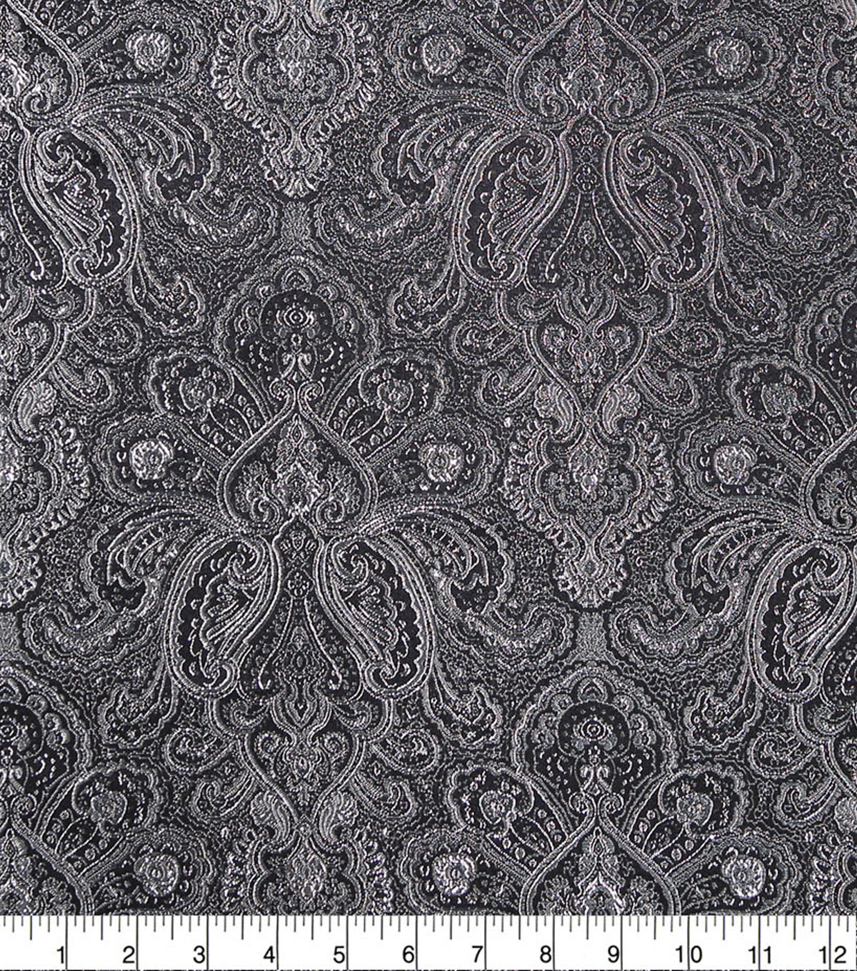 Brocade Fabric-Silver Wild Tapestry