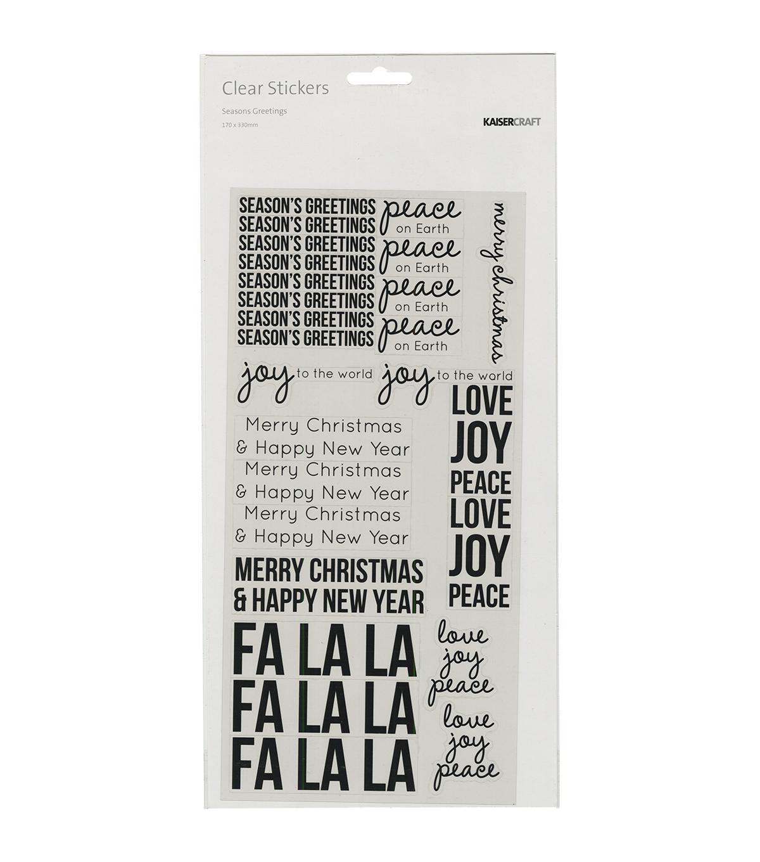 Kaisercraft Clear Stickers Seasons Greeting Joann