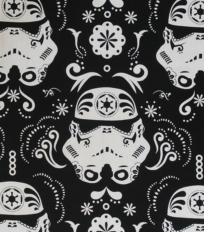 Star Wars Cotton Fabric 44\u0022 Stromtroopers Sugar Skulls
