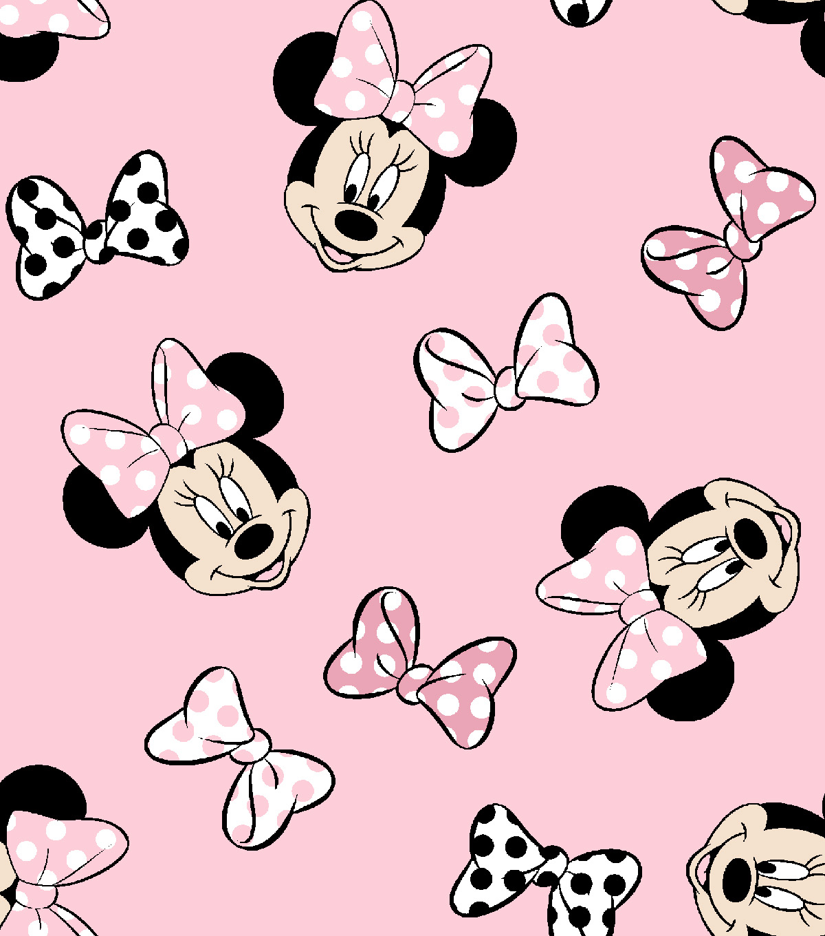 Disney Minnie Mouse Knit Fabric 58\'\'-Tossed | JOANN