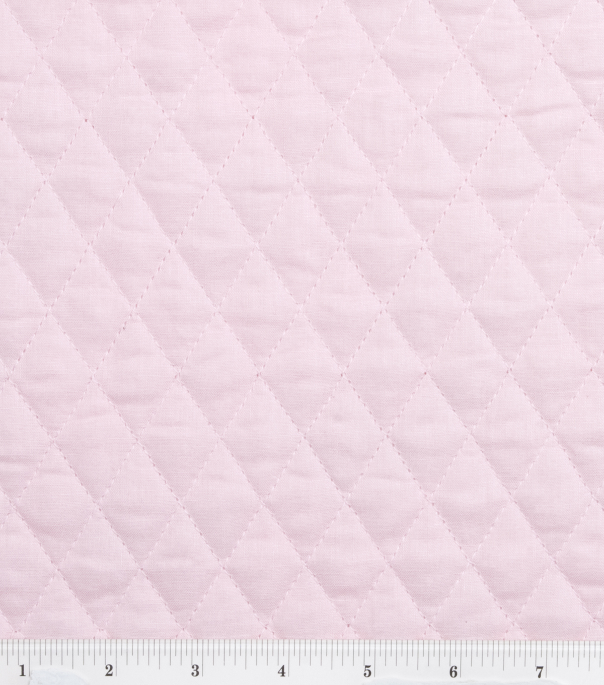 Double Faced Pre-Quilted Cotton Fabric -Diamond Solids, Pink