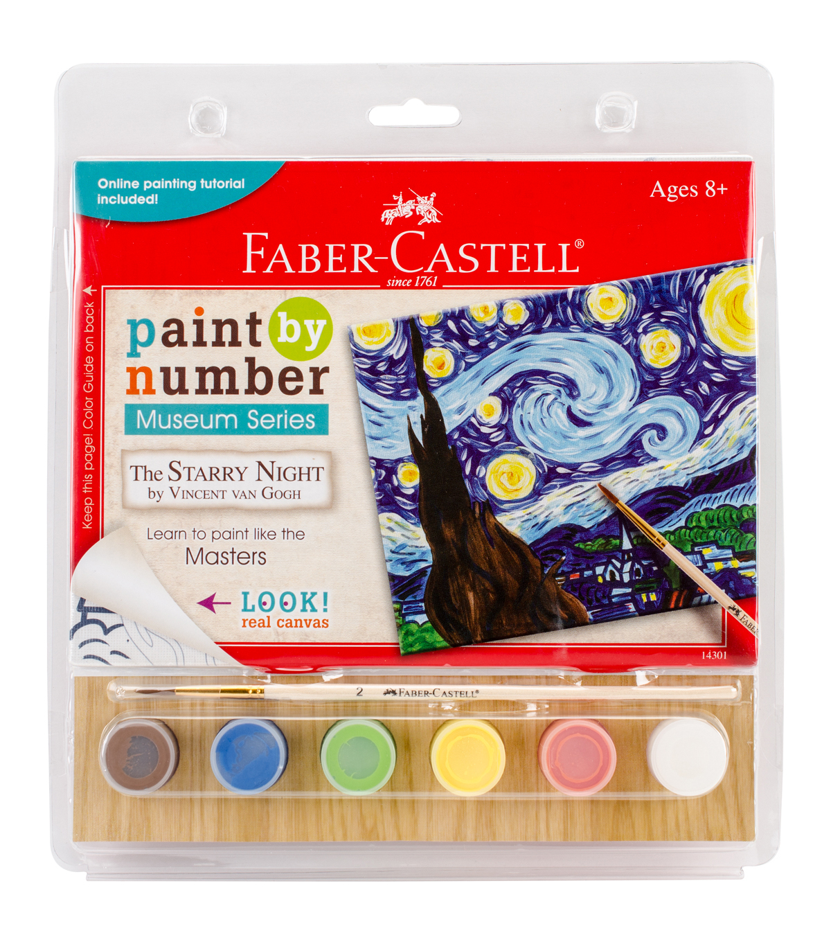 Faber-Castell Museum Series Paint By Number Kit-The Starry Night