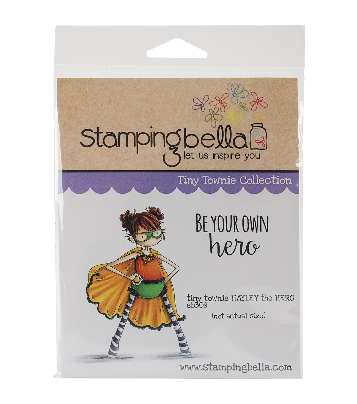 Stamping Bella Cling Rubber Stamp-Tiny Townie Hayley The Superhero