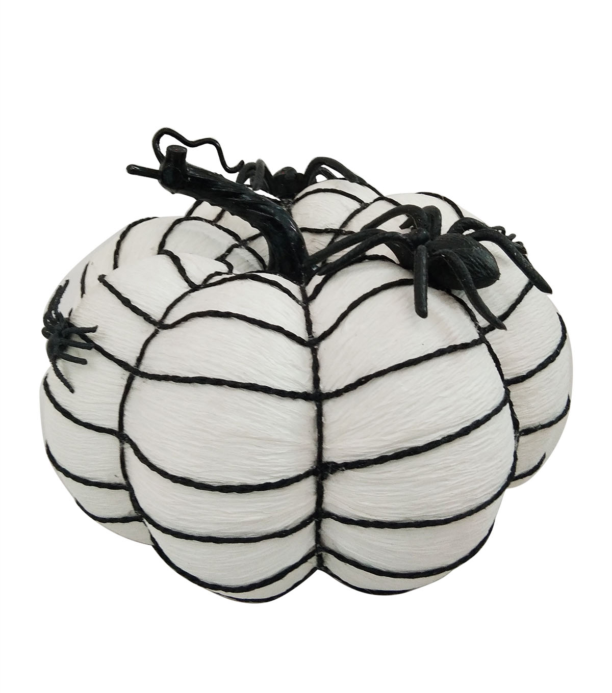 Maker\u0027s Halloween Large Fashion Pumpkin with Spooky Spider Web
