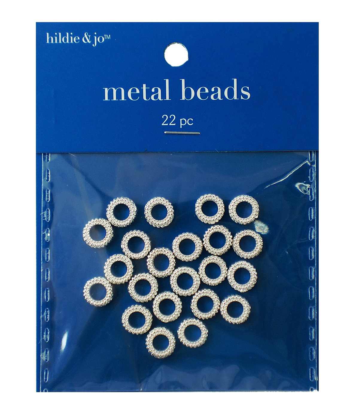 8mm Donut Shaped Cast  Metal Spacer Beads, Silver
