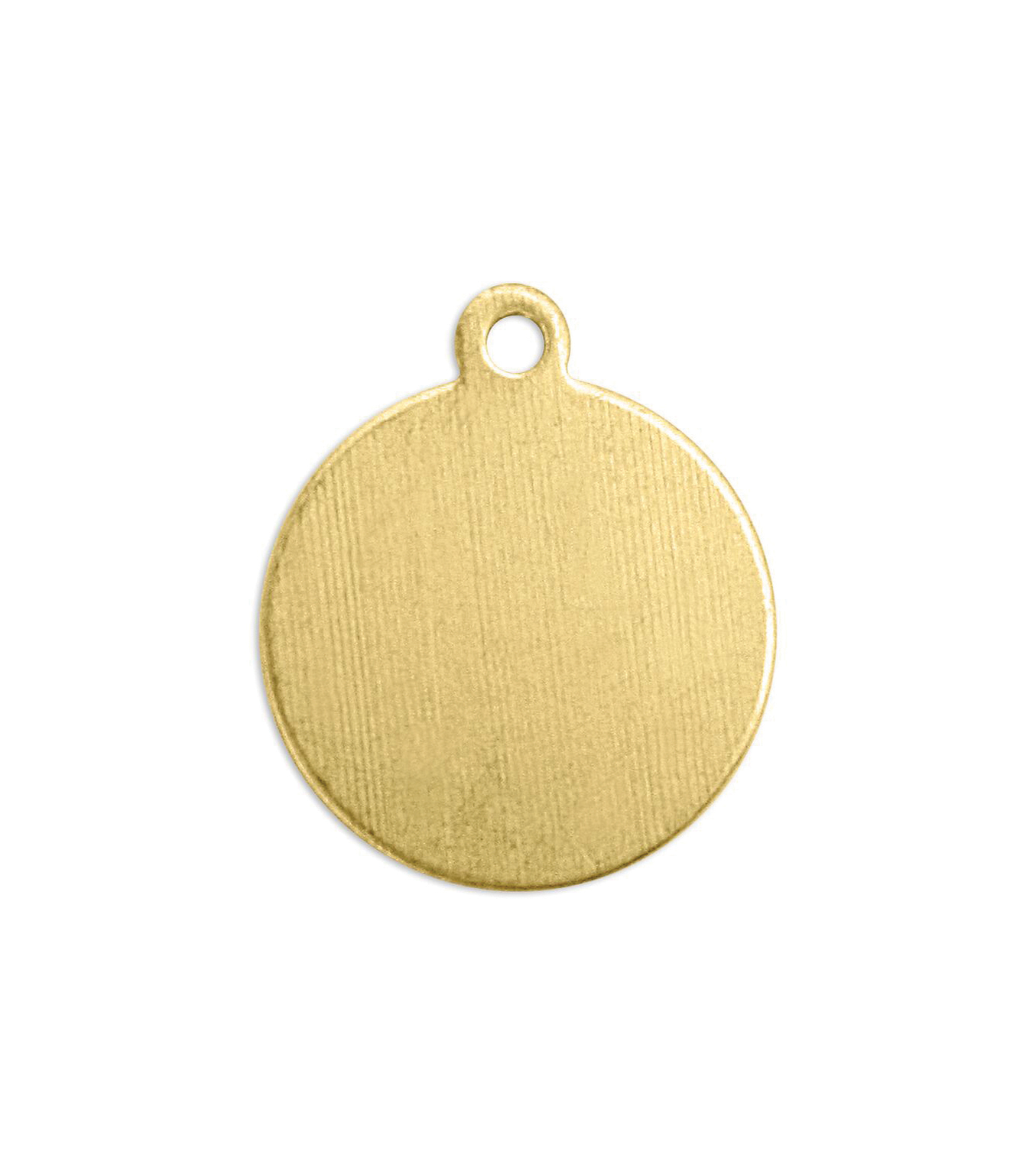ImpressArt 0.63 oz. Brass Circle Tag with Ring Premium Stamping Blanks