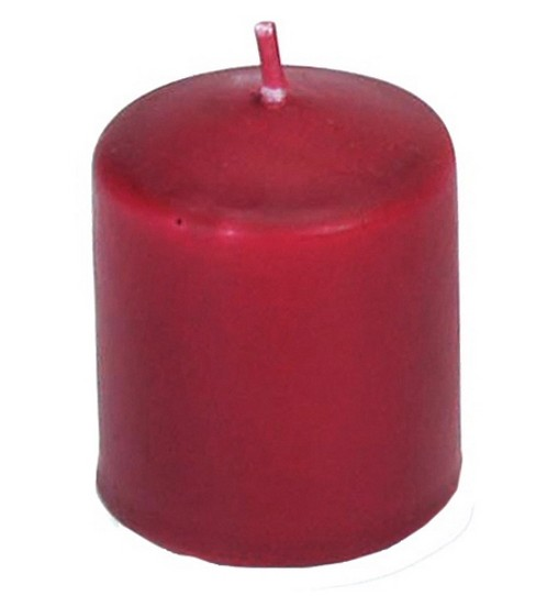Darice Unscented 12 Hour Votive Candles, Red