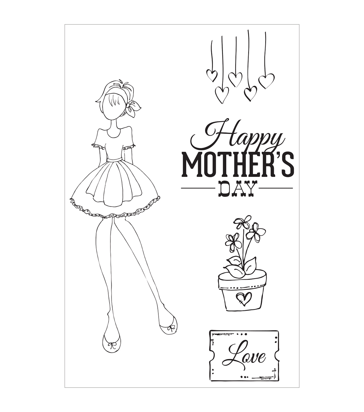 Prima Marketing Julie Nutting Mama\u0027s Day Cling Rubber Stamps