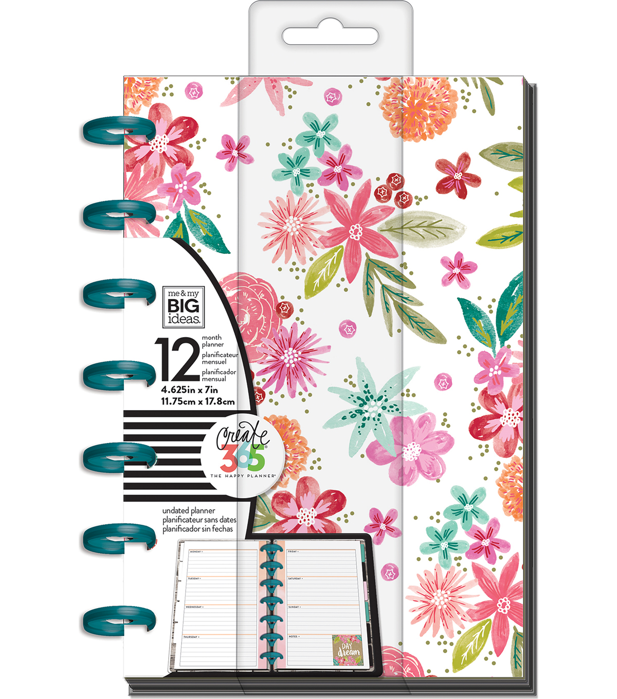 The Happy Planner 12-Month Undated Mini Planner-Happy Mind Happy Life