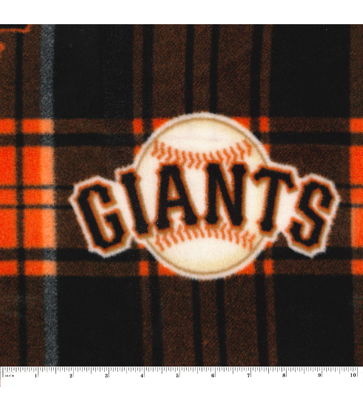 San Francisco Giants Fleece Fabric -Plaid