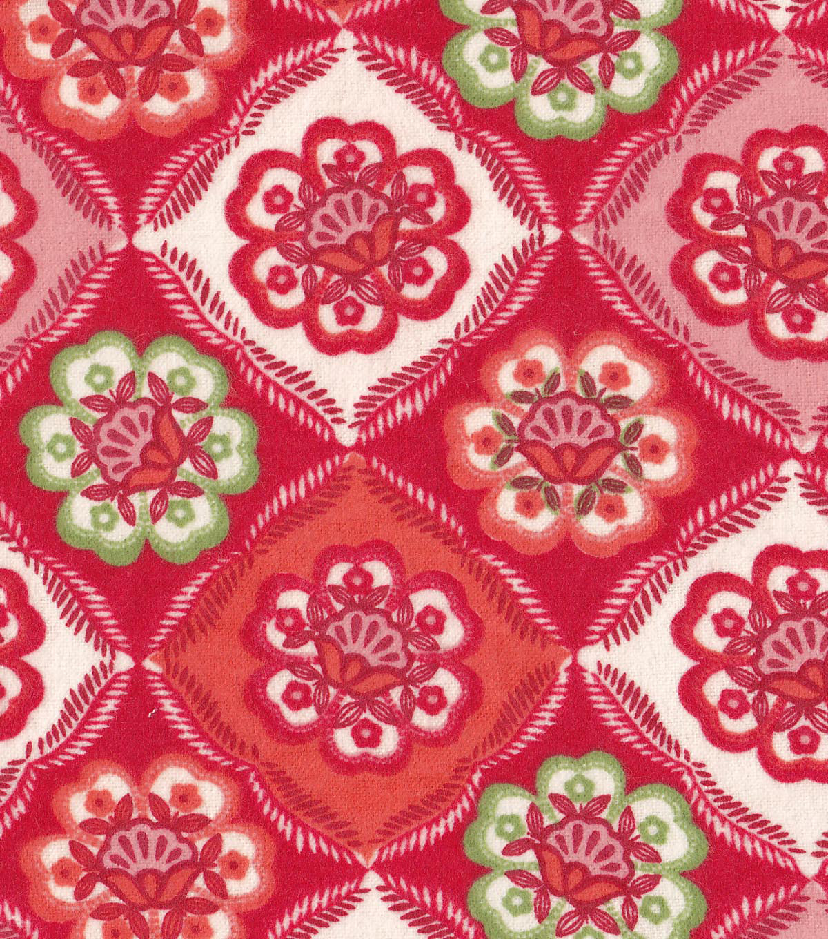 Snuggle Flannel Fabric -Red Floral