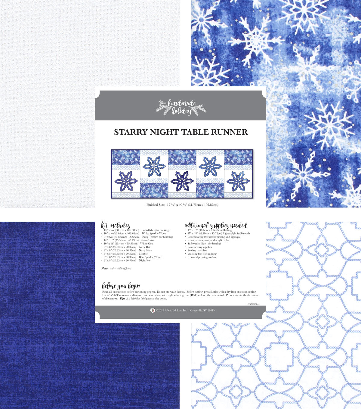 800e56af6 It's Sew Simple Handmade Holiday Starry Night Table Runner Kit | JOANN