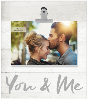 Wood Single Image Boxed Tabletop Frame with Clip 4\u0027\u0027x6\u0027\u0027-You & Me