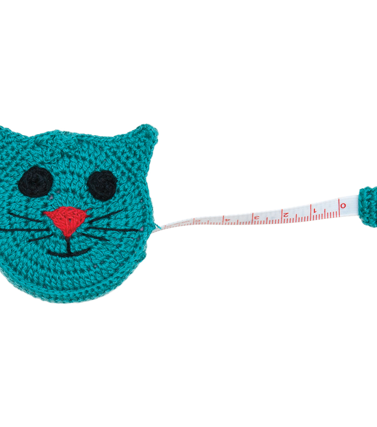 Paradise Exotic Shawl Pin Crocheted Cat Tape Measure