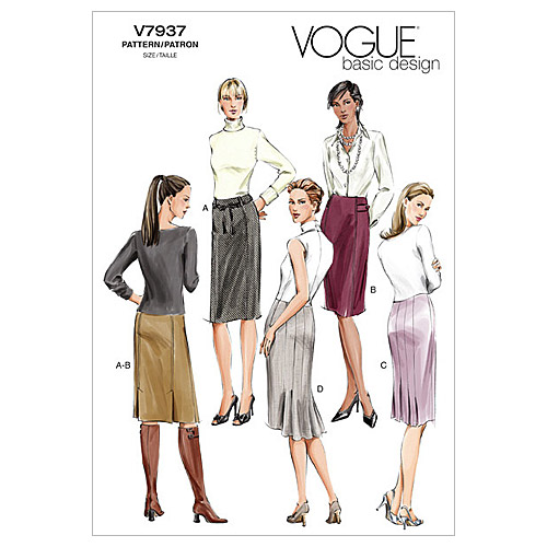 Vogue Patterns Misses Skirt-V7937