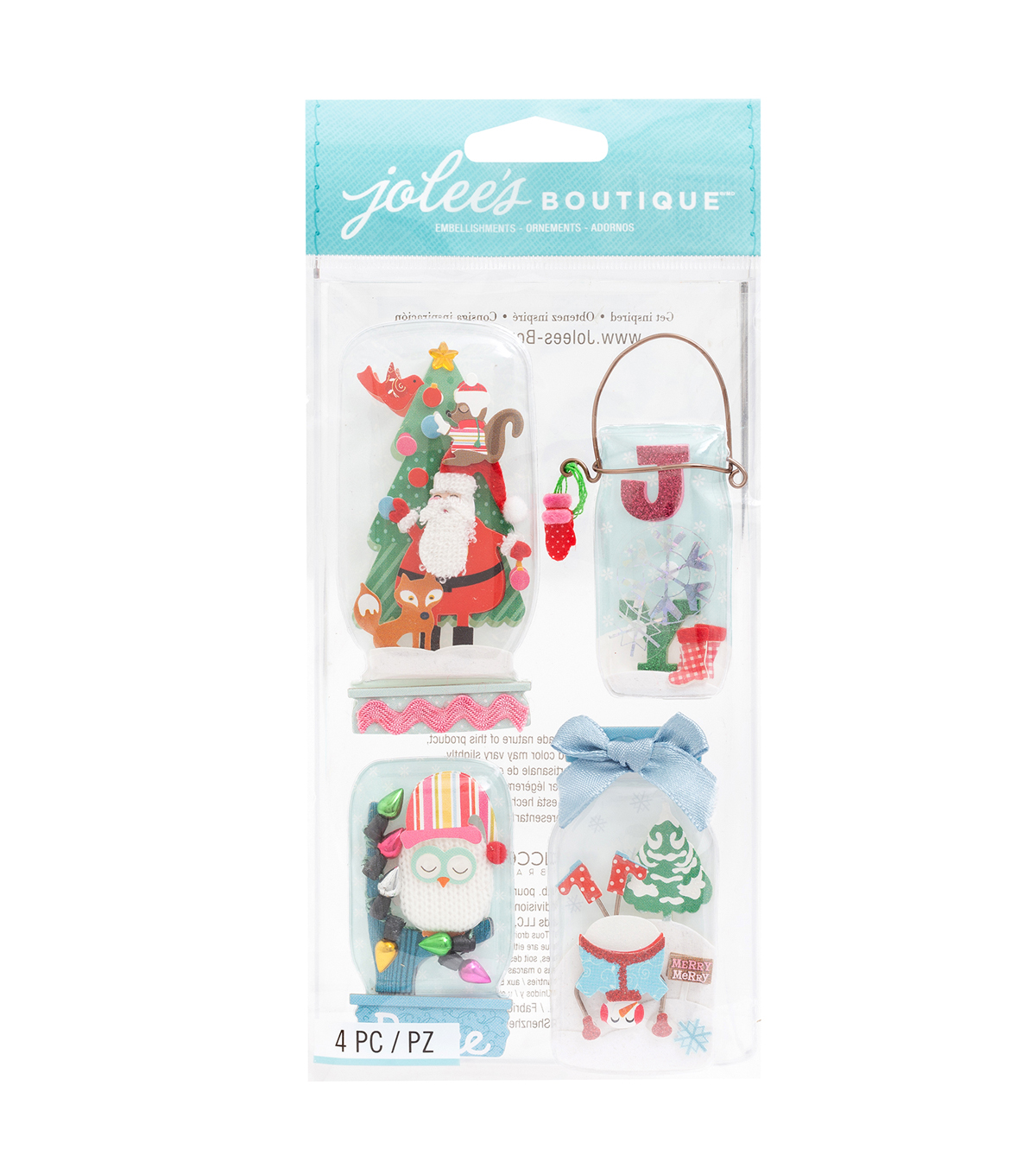 American Crafts Stickers-Holiday Snow Globe