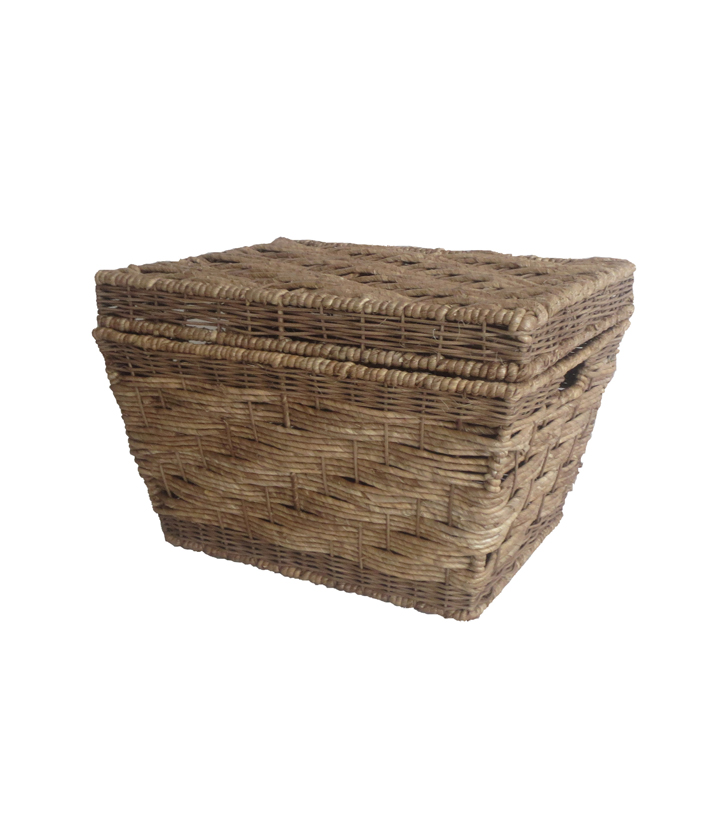 Organizing Essentials Corn Husk Trunk Basket