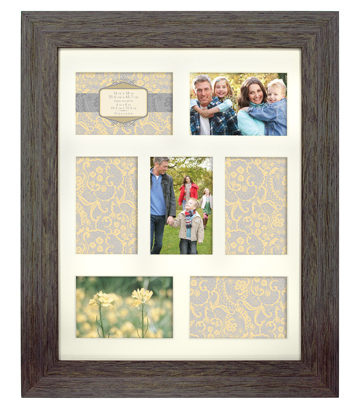 Wall Frame 14X18-Rustic Blue Gray