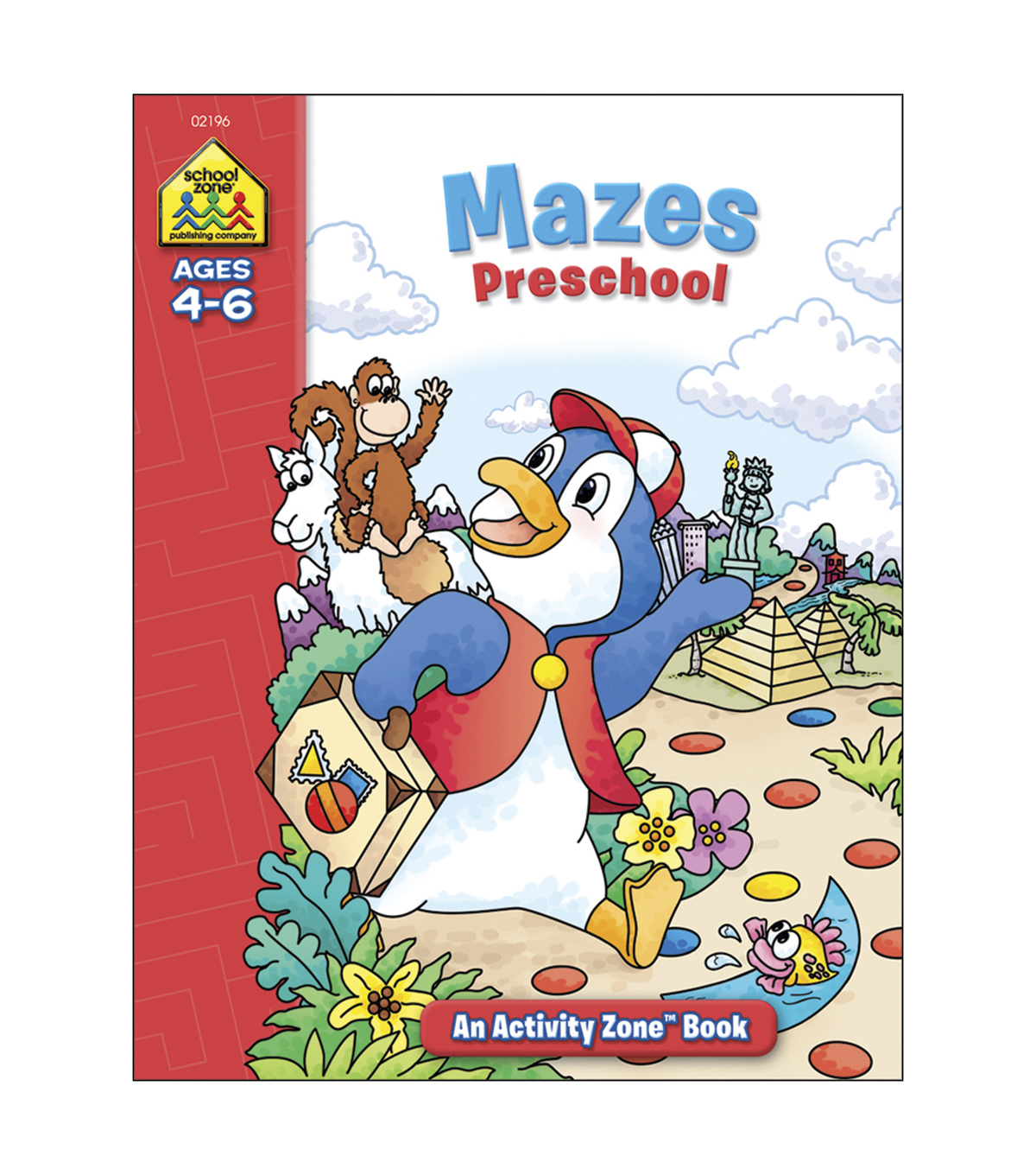 Activity Workbooks 32 Pages-Mazes Preschool Ages 4-6