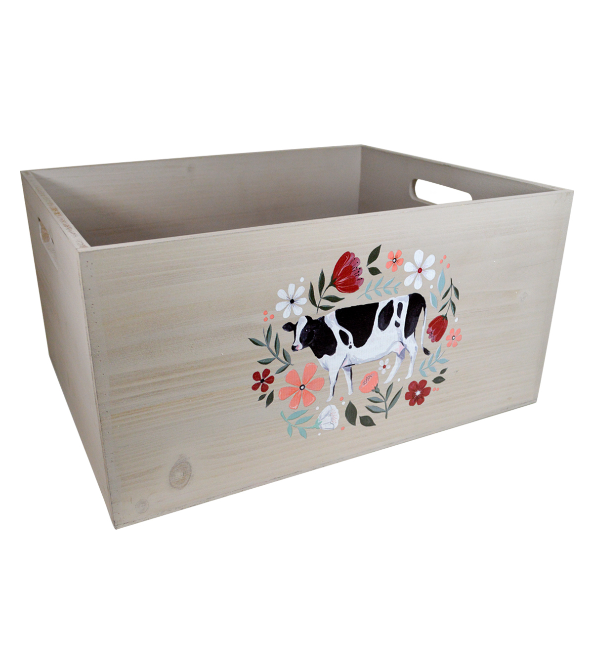 Organizing Essentials Large Wooden Crate-Farmhouse Collage