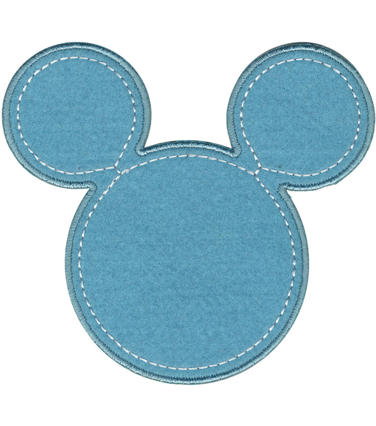 Disney Mickey Mouse Iron-On Applique-Blue