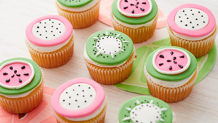 Fruit Inspired Cupcakes