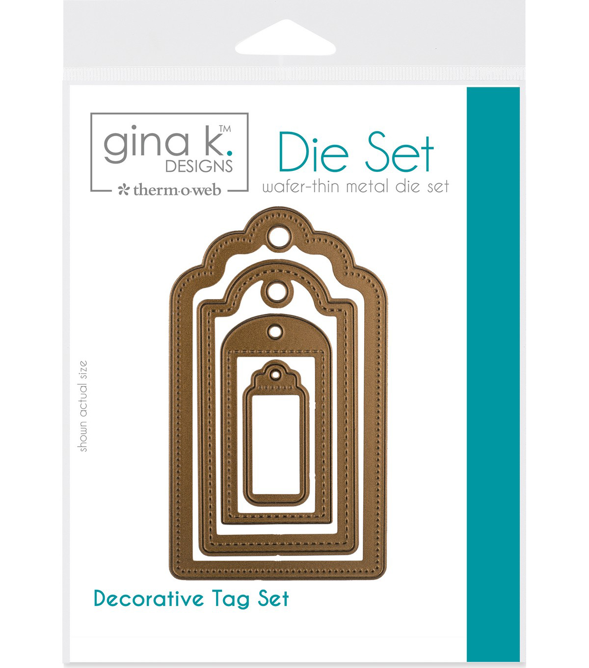 Gina K Designs 4 Nested Decorative Tags Dies-.625\u0022 To 4\u0022