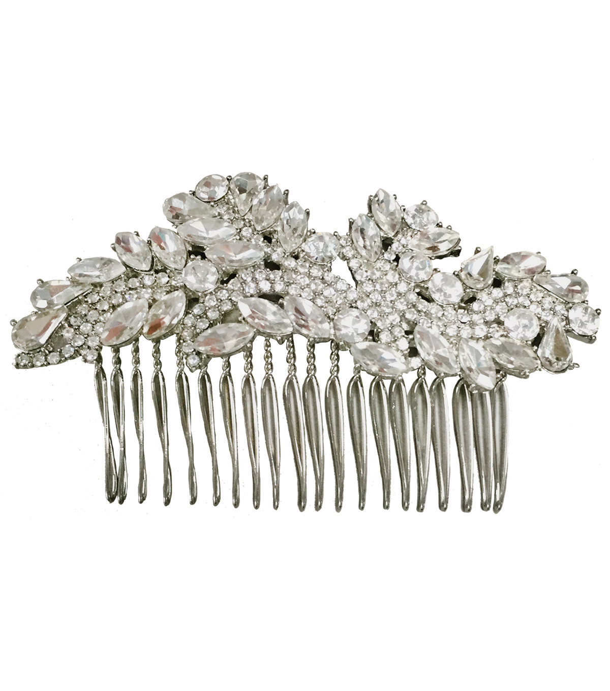 Save The Date Rhinestone Hair Comb-Silver