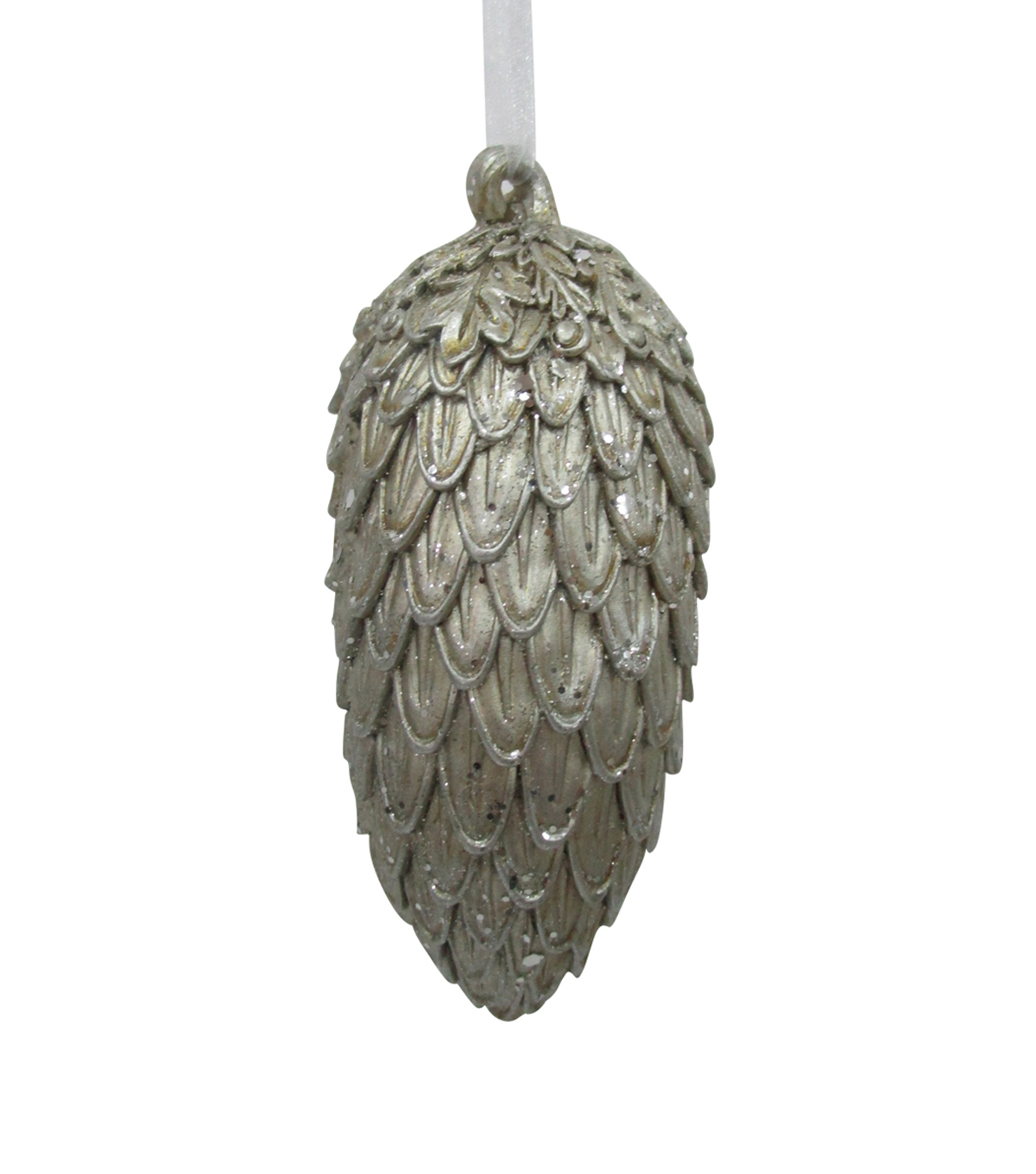 Maker\u0027s Holiday Christmas Glistening Pines Glitter Pinecone Ornament