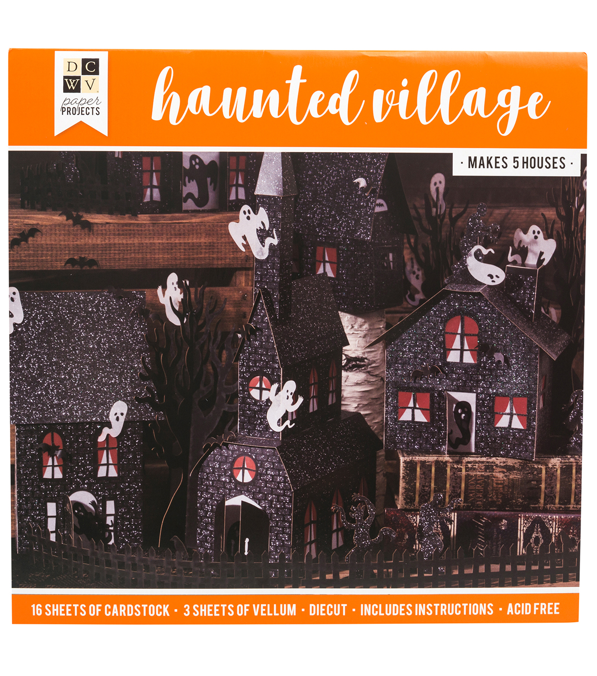 DCWV Halloween Paper Projects-Haunted Village