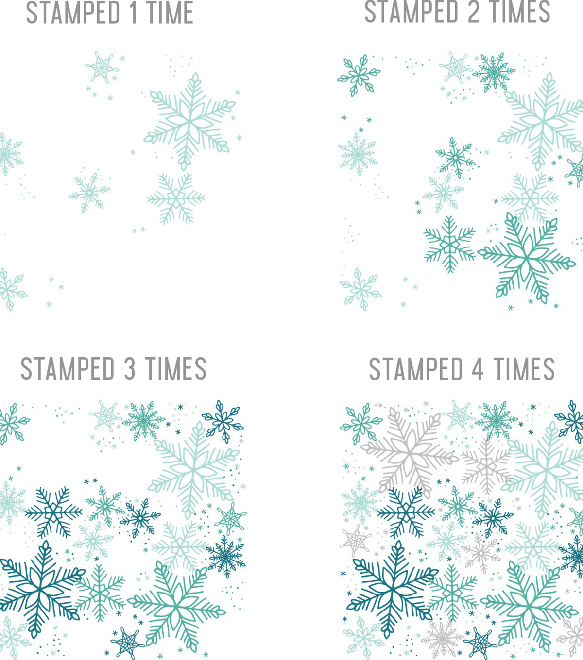 Concord & 9th Clear Stamps 6\u0022X6\u0022-Snowflakes Turnabout