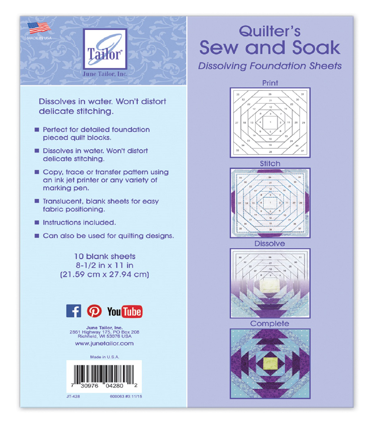 Quilter\u0027s Sew and Soak